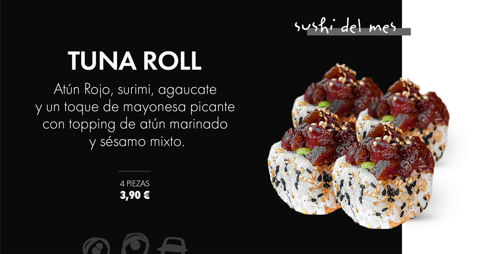 Tuna Roll: sushi a domicilio